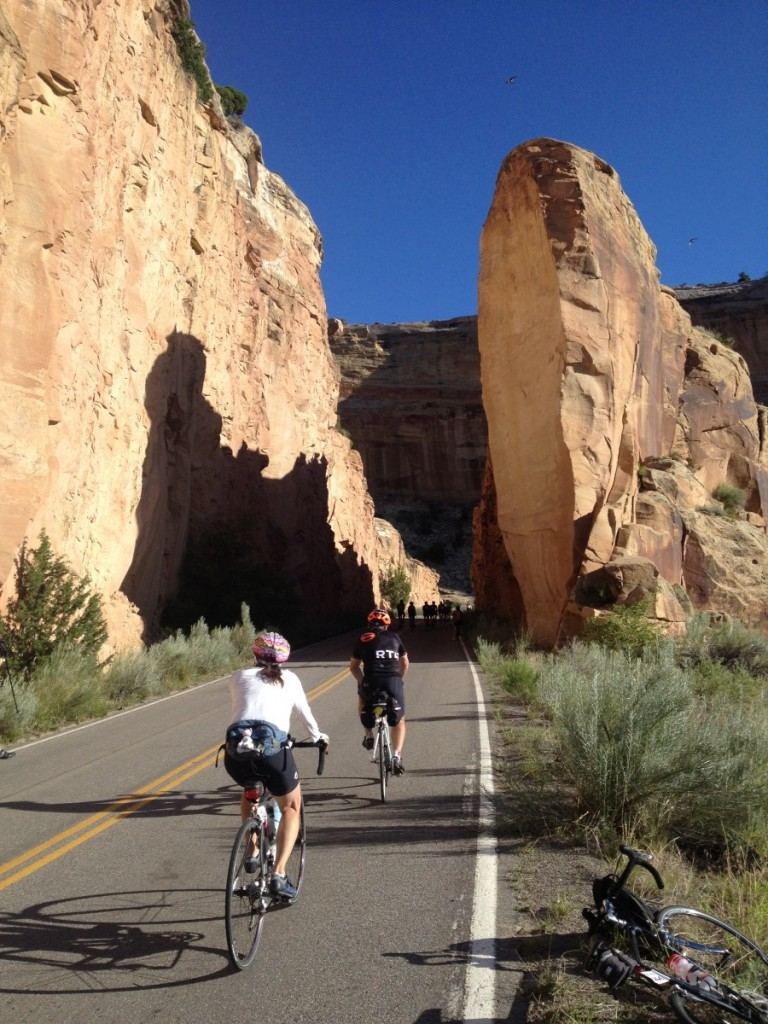 On the climb from Grand Junction