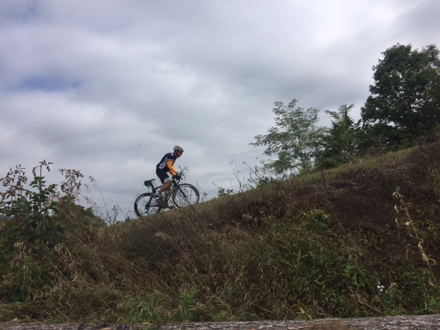 Rider headed up Reddish Knob