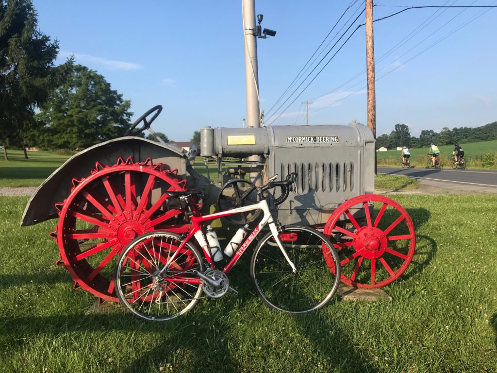 Trek Pilot 5.0 and some old tractor